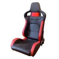 PVC Adjustable Red And Black Racing Seats / Sports Car Seat with single slider Manufactures