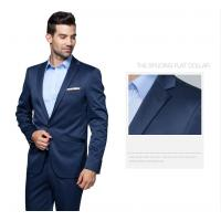 China Single Breasted Lapel Flat mens business suits with one button on sale