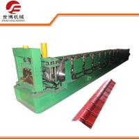 PPGI Color Steel CNC Roll Forming Machine , Ridge Cap Roof Tile Making Machine 360 Manufactures