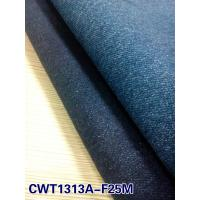 China cotton polyester spandex denim fabric with high stretch (CWT1313A-F25M) on sale