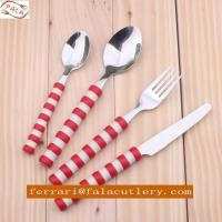 Promotional Colorful Plastic Handle Stainless Steel Cutlery Manufactures