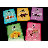 Paper Custom Memory Game Cards / Early Learning Flash Cards with Color Box Manufactures