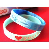 3 Strips Football Fans Custom Silicone Rubber Wristbands Easy To Carry