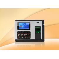 Embedded fingerprint time attendance machine Clocking Systems with Check in / out Manufactures