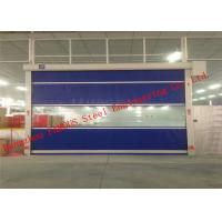 China Automatic Steel Industrial Garage Doors Lifting Up Roller Shutter Door PVC Surface on sale
