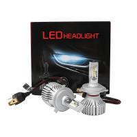 Quality High Power Aluminum Super Bright Led Headlight Bulbs T8 H4  60W 10000LM for sale