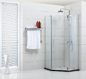 Semi-Frameless Hinge Pentagon Shower Door (XIX-001) Manufactures
