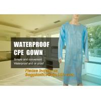 Disposable CPE plastic gown/Plastic coat Elastic cuff/Thumb Cuff,disposable hospital CPE isolation gown /protection gown Manufactures