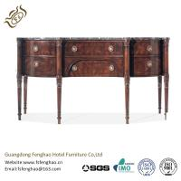 China Contemporary Black Wood Console Table With Drawers / MarbleTable Board Dark Oak Console Table on sale
