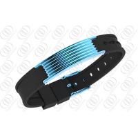 China Blue Plated leather bracelets for women , magnetic stainless steel bracelets on sale