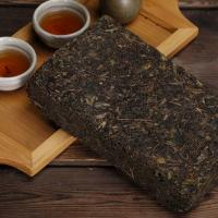 Dark Chinese Tea Brick Healthy Hypotensive For Gastrointestinal Weak People Manufactures