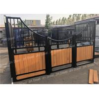 Quality Sliding Door Longlife Horse Stable Front Panel With Plastic Kick Panels for sale