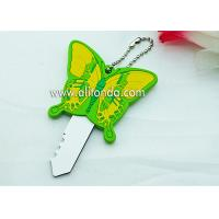PVC butterfly cartoon figures shape cute key cover custom and supply Manufactures