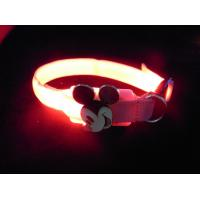 Yellow Nylon LED illuminated Pet Collars Manufactures