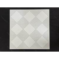 Quality 600 x 600 Fireproof Acoustic Aluminum Perforated Ceiling panel for Decoration for sale