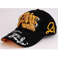Korean Style Golf Embroidered Printed Baseball Caps Cotton With Woven Label Manufactures