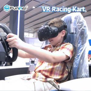 China Kids Playing Virtual Reality Racing Simulator / Car Racing Simulator 0.7KW on sale