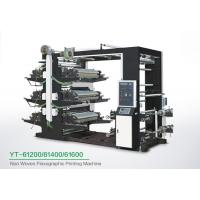 China Eco Friendly 6 Color Flexo Printing Machine , Industrial Fabric Six Color Printer on sale