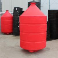China 1500L Rotational PE 7mm thickness plastic cone bottom tank with  standing on sale