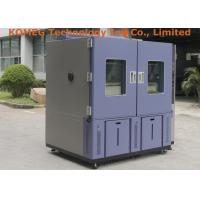China Double Open Door Reach In Type Temperature Humidity Controlled Cabinets For Led Light Testing on sale
