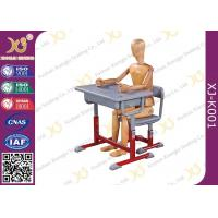 China High Adjustable Student Desk And Chair Set For Primary School E1 Grade Eco-friendly on sale