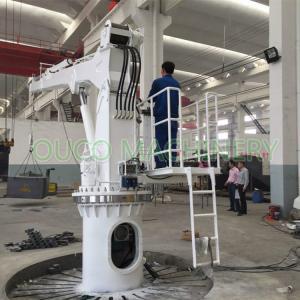 China Hydraulic Telescopic Boom Crane Boat Lifting Crane 1T5M CCS Certificated on sale