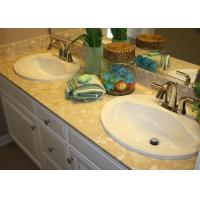 Marble Pattern Artificial Double Vanity Countertops And Sinks For Bathroom Manufactures