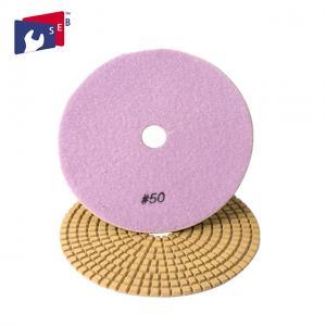 Flexible Square Diamond Polishing Pads Nylon Sponge 16 - 120 Mm Aperture