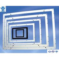 Silver or black anodized extruded aluminum frame for solar panel Manufactures