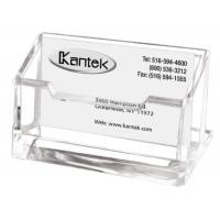 China Clear Acrylic Card Display Stand , AcrylicBusiness Card Holder With Pocket on sale