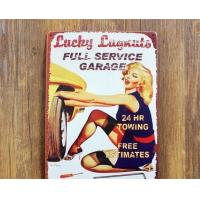 Outdoor Wall Hanging Vintage Advertising Signs Customized For Decorative Manufactures