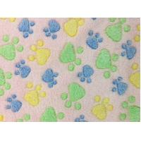 China 100% Polyester   knitting fabric Coral  Fleece with printed   CWTPF07 on sale