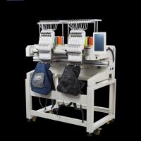 Quality 6/9/12/15 Needles Double Head Embroidery Machine , Hat Embroidery Machine for sale
