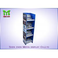 Customized Pop Up Cardboard Floor Display Stands Environment Friendly Manufactures