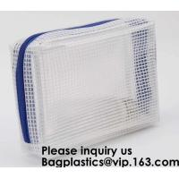 Eco friendly material documents pouch/plastic file pockets for kids,Eco friendly material PVC mesh bag, bagease, pack Manufactures