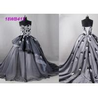 Tulle Black And White Bridesmaid Dresses , Strapless Two Color Bridesmaid Dresses Manufactures