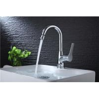 Quality Brass Body Basic Kitchen Faucet Deck Mounted Mixer Rotate Water Outlet Polished for sale