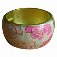 Zinc alloy epoxy bangle with gold plating Manufactures