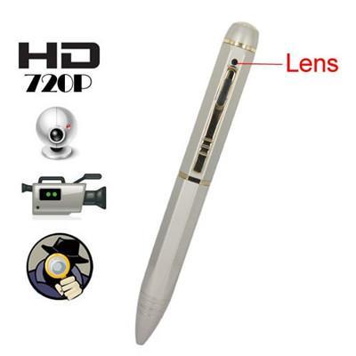 Hidden Camera | 8GB Memory HD 720P Pure Copper With Chromeplate Spy Camera Pen