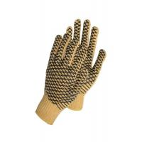 Double Sides PVC Dotted Hand Gloves Elastic Knitted Liner Safety Gloves Anti Slip Manufactures