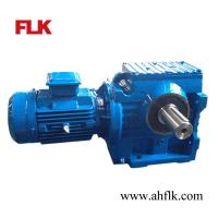 Right Angle Solid shaft Helical/Worm gear reducer S97 gearbox and motor Manufactures