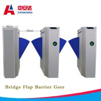 Automatic Bridge Flap Wing Barrier Turnstile 1.5mm 304 Stainless Steel Control Turnstile Gate for Subway Manufactures