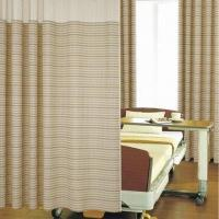 China Inherently Flame Retardant Cubicle Curtain in Striped Patterns, Mesh with Fabric Weave Together on sale