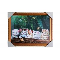 Love Cat Image Lenticular 3d Pictures Decoration Craft Modern PS Frame For House Manufactures