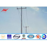 3mm 45ft Q345 Galvanized Steel Pole , Customized Electric Power Pole For Aboard Manufactures