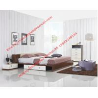 Italy modern design bedroom furniture by storage and leather headboard Manufactures