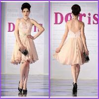 Grace Sweetheart Embroidery A Line Mini Chiffon Evening Dresses (XZ-162) Manufactures