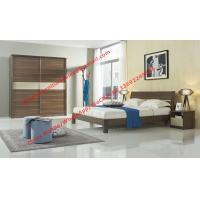 Wood & Panel furniture in modern deisgn Walnut color by KD bed with Sliding door wardrobe Manufactures