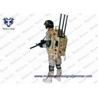 China Army Electronic Signal Jammer , Backpack  80W Jammer Signal Blocker 6 Bands on sale