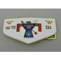 Gold Plating Customized Belt Buckle With Wiped Imitation Hard Enamel Manufactures